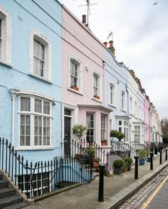 Colorful houses in Chelsea, London