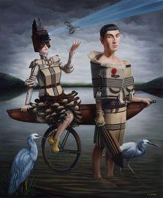 Art is a Feeling - Poly Nation -Liam Barr. Nz Art, Maori Art, Pop Surrealism, Wearable Art, Whimsical, Cartoon, Illustration, Artists, Crane