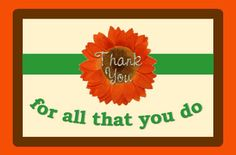A simple post card to say #thankyou
