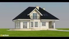 Projekt domu Dom w awokado - ARCHON+ Home Fashion, Villa, Mansions, House Styles, Home Decor, American Houses, Decoration Home, Manor Houses, Room Decor