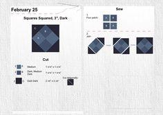 "February 25 Square Squared 3"" Dark"