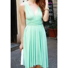 Solid Color Sleeveless Chiffon Multi Ways Refreshing Style Dress For Women. Get it for $9.26USD @ http://mydresshaven.com/item/view/83940
