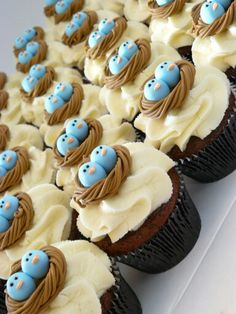 Bird Nest Cupcakes - Twin Cupcakes