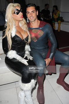 Adult film actors Bridgette B as Black Cat and Ryan Driller as Superman at FSC After Dark 'Capes & Panties' A Superhero Costume & Lingerie Auction and Silent Auction to Benefit the Free Speech Coalition held at Supperclub on September 24, 2015 in Hollywood, California.