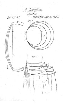 1857 BustlePatent US17082 - ALEXANDER DOUGLAS - Google Patents  Pretty simple design, but would likely need vertical tapes to keep it from collapsing when worn