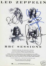 http://custard-pie.com/ BBC Sessions Signed Promo Poster. Led Zeppelin's BBC sessions were among the most popular bootleg items of the rock & roll era, appearing on a myriad of illegal records and CDs. They were all the more popular because of the lack of official Led Zeppelin live albums, especially since The Song Remains the Same failed to capture the essence of the band.