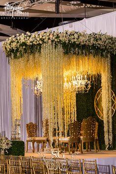 Wedding Hall Decorations, Tent Decorations, Engagement Decorations, Indian Wedding Receptions, Wedding Mandap, Wedding Backdrops, Wedding Ideas, Altar, Wisteria Wedding
