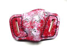 Custom pink ladies gun holster - by pinkpistolholsters.com
