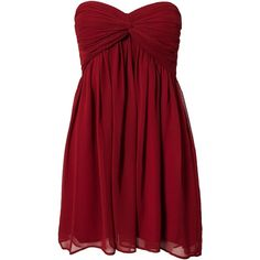Nly Trend Short Dreamy Dress ($39) ❤ liked on Polyvore featuring dresses, vestidos, short dresses, robes, party dresses, burgundy, womens-fashion, red dress, burgundy dress and short pleated dress