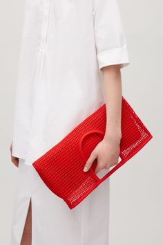 COS image 7 of Mesh market bag in Red