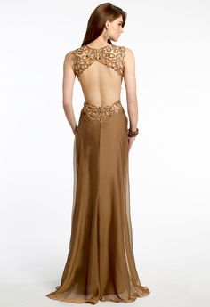 Beaded Paisley Cutout Dress with Open Back from Camille La Vie and Group USA