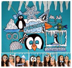 Antarctica penguin photo booth props perfect for por thepartyevent, $14.99