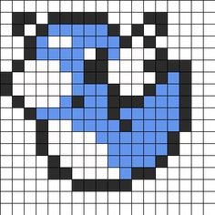 Bilderesultat for pokemon bead pattern Perler Bead Designs, Perler Bead Templates, Hama Beads Design, Perler Bead Art, Melty Bead Patterns, Kandi Patterns, Pearler Bead Patterns, Perler Patterns, Beading Patterns