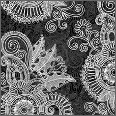 Black And White Floral Pattern Royalty Free Cliparts, Vectors, And Stock Illustration. Image 13753798.