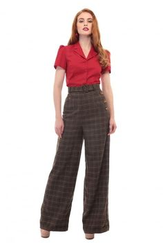 Retro Pants & Jeans Collectif Vintage Gertrude 40s Trousers £49.50 AT vintagedancer.com