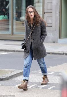 Reflective:Keira Knightley appeared deep in thought as she stepped out in London on Thurs...