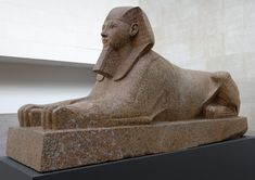 Sphinx of Hatshepsut, New Kingdom, Dynasty reign of Hatshepsut, ca. Egyptian Red granite with traces of blue and yellow paint; 3 in. cm), H. 4 in. Ancient Egyptian Artifacts, Ancient History, Art History, Giza, Ancient Architecture, Metropolitan Museum, New York City, Timeline, Anja Rubik
