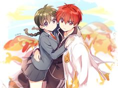 Rokudou Rinne y Mamiya Sakura ~ Kyoukai no Rinne (Sobrenatural, Shounen, Colegial, Romance, Comedia)