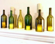 Flasche Wein Kerze Halter Hurrikan-Lampe Kerze Abdeckung