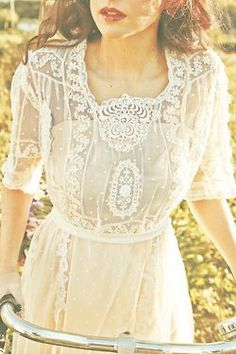 lovely lace overlay antique feel