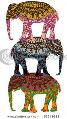 ☮ American Hippie Psychedelic Art ~ Elephant