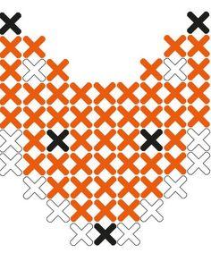 Fox cross stitch sticker pattern from Lidewijs.