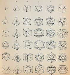 geometric shapes / illustration / line drawing Geometric Designs, Geometric Art, Geometric Solids, Geometric Tattoos, Geometric Patterns, Origami Patterns, Geometric Poster, Geometric Circle, Art Arabe