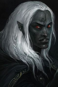 m Drow Elf Warlock Leather Armor Cloak portrait Underdark lg Elves Fantasy, Fantasy Races, High Fantasy, Fantasy Rpg, Dark Fantasy Art, Fantasy Portraits, Character Portraits, Character Art, Forgotten Realms