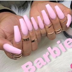 Nails pink Image uploaded by Reddheadd. Find images and videos about long nails, pink nails. Image uploaded by Reddheadd. Find images and videos about long nails, pink nails and acrylic nails on We Heart It - the app to get lost in what you love. Barbie Pink Nails, Aycrlic Nails, Coffin Nails, Glitter Nails, Gradient Nails, Matte Pink Nails, Pink Coffin, Galaxy Nails, Pink Acrylic Nails
