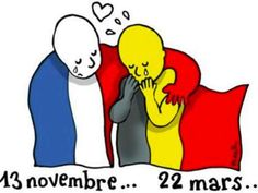People are sharing this illustration by French artist Plantu online as a sign of solidarity with Bel... - Le Monde