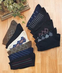 12-Pair Men's Dress Socks