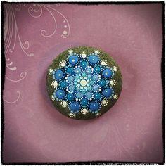 Jewel Drop Mandala Painted Stone- Starry Starry Night.