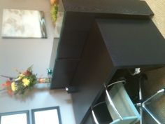 Malm desk and Billy bookcase as reception desk (view 1)