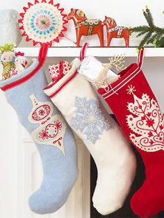 print off the templates for these stockings