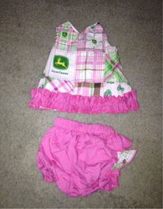 2PC 3-6 month John Deere Outfit