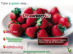 ☛ Did you know that eating strawberries has been found to counter post-meal blood glucose and low density lipoprotein, or 'bad' cholesterol and therefore decrease risk of diabetes and heart disease?  ✒ Share | Like | Repin | Comment