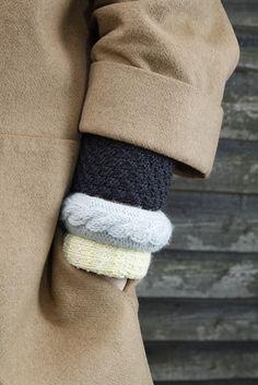 DIY Knitted bangles ©Bliss