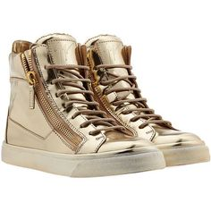 Giuseppe Zanotti Patent Leather High-Top Sneakers found on Polyvore