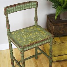 Must-Make French Chair - Learn how to paint a chair the French way - with lots of style and plenty of flair.