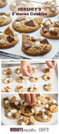 S'mores aren't just for summer. Try these S'mores Cookies to welcome the classic treat into fall. Made with HERSHEY'S Milk Chocolate Bars, these cookies are perfect for a fall-themed s'mores occasion kids will love. Save a trip to the grocery store and get all the preportioned ingredients delivered right to your door! Chef'd makes baking delicious HERSHEY'S recipes even easier with their new dessert kits. Baking just got S'more Fun.