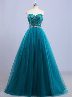 Discount Fetching Prom Dresses Long A-line Sweetheart Floor-length Sleeveless Tulle Prom Dress/Evening Dress # Classy Prom Dresses, Prom Dresses 2018, Tulle Prom Dress, Grad Dresses, Quinceanera Dresses, Ball Dresses, Elegant Dresses, Pretty Dresses, Strapless Dress Formal