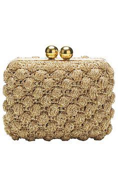 Dolce&Gabbana - Women's Accessories 2011 Spring-Summer - LOOK 57 Crochet Clutch Bags, Crochet Shoes, Bead Crochet, Diy Crochet And Knitting, Tunisian Crochet, Handbag Accessories, Fashion Accessories, Wedding Clutch, Crochet World