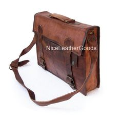 Leather Men's Laptop Leather Messenger Bag Leather Satchel Leather Briefcase leather office bag - UNISEX - Soft Leather - 17inch on Etsy, $79.99