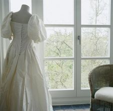 How to turn a wedding gown into a Christening gown