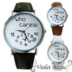 Fashion Wrist Watch Women Leather Who Cares Letters Printed Casual Watches Men Women Vogue Quartz Wristwatch Relogio Reloj Casual Watches, Watches For Men, Women's Watches, Wrist Watches, Online Fashion Stores, Luxury Watches, Quartz Watch, Luxury Branding, Leather