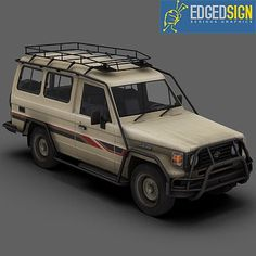 3D Toyota Land Cruiser Hzj75 Model - 3D Model