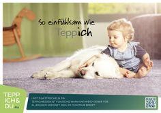 So einfühlsam wie Teppich. Lädt zum Streicheln ein: Teppichboden ist flauschig warm und weich sowie für Allergiker geeignet, weil er Feinstaub bindet. Dass Teppichboden und Allergiker sich nicht vertragen, ist ein altes Vorurteil. Längst haben wissenschaftliche Studien das Gegenteil bewiesen: Textiler Bodenbelag verringert die Feinstaubbelastung im Vergleich zu Glattbelägen um etwa die Hälfte und verbessert so die Qualität der Raumluft.