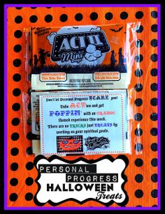 Halloween 'Personal Progress' Treats. From Marci Coombs' Blog
