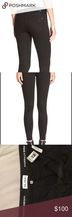 DL1961 Margaux Black Skinny Jean New w/o tags. Never worn size 28 black instasculpt ankle jeans. Fantastic jeans and so so soft! Too big for me, looking to find them a good home. DL1961 Jeans Ankle & Cropped