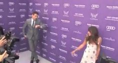 Monchele at charity event